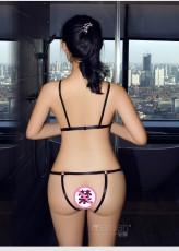 情趣内衣女性感开裆露乳绑带三点式 连体衣套装极度诱惑NY9562