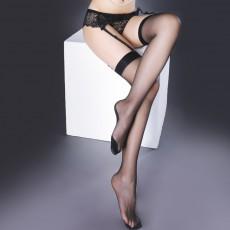 【天猫】臻媚情趣丝袜 性感黑边黑线复古长筒袜1237