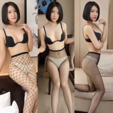 时尚黑色镂空网袜 性感大网眼网袜 高腰情趣丝袜制服诱惑WZ7014