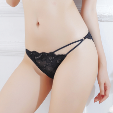 【天猫】性感镂空内衣透视蕾丝花朵刺绣三角裤丁字裤情趣内裤女1130