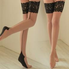 情趣内衣女式蕾丝花边吊带袜性感黑丝诱惑过膝长筒袜情趣丝袜1290