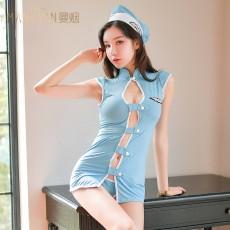 欧美情趣内衣护士服制服空姐吊带连衣裙2079