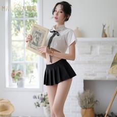情趣内衣性感露脐清纯分体学生装学院风少女9762
