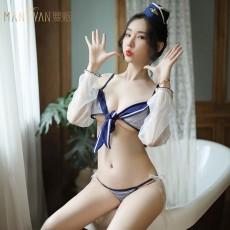 情趣内衣性感系带吊带三点柔纱空姐诱惑水手制服9769