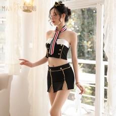 情趣内衣性感时尚抹胸包臀短裙空姐套装9209