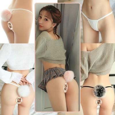 曼烟情趣内衣女式性感毛绒萌兔短尾巴内裤8247