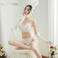情趣内衣性感吊带三点式花边兔女郎制服套装9227