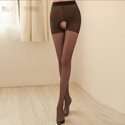 【天猫】曼烟情趣内衣性感大开裆免脱情趣丝袜WZ7001