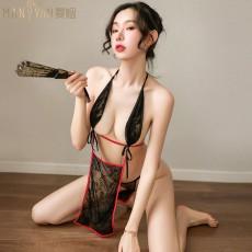 【天猫】曼烟女性感镂空傲娇女仆装肚兜9290