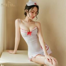 【天猫】曼烟情趣内衣女性感软萌可爱吊带露背护士制服诱惑1786
