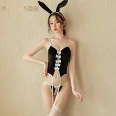【天猫】曼烟性感吊带马甲连体衣绑带兔女郎9623
