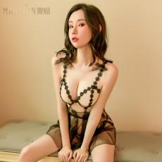 【天猫】曼烟情繁花吊带睡裙欧根纱蓬蓬裙9550