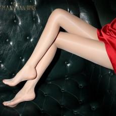 【天猫】曼烟极光系列油亮360无缝裆丝袜高密丝滑油光闭档连裤袜7148