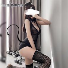 【天猫】情趣内衣性感透视包臀连体网衣裙空姐套装9229