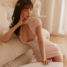 【天猫】曼烟情趣内衣性感镂空连衣裙紧身护士装制服套装9108