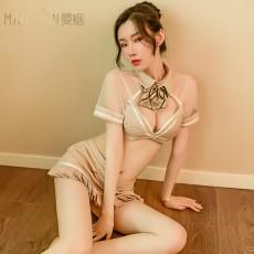 【天猫】曼烟情趣内衣性感镂空紧身包臀空姐鱼尾裙JK制服9583