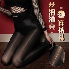 【天猫】曼烟情趣丝袜性感透视8D极光油量高腰一线闭档不开档连裤袜WZ7221